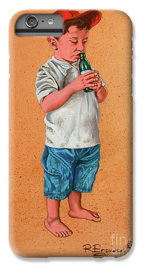 Summer IPhone 6 Plus Case featuring the painting It's A Hot Day - Es Un Dia Caliente by Rezzan Erguvan-Onal