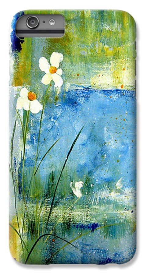 Abstract IPhone 6 Plus Case featuring the painting It's Just You And Me by Ruth Palmer