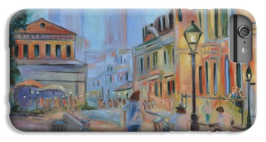 New Orleans IPhone 6 Plus Case featuring the painting Jackson Square Musicians by Ginger Concepcion