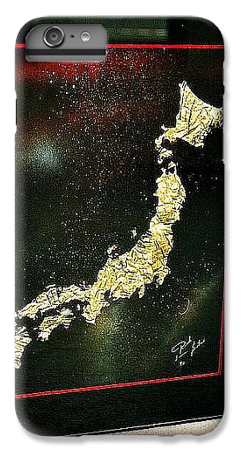 Map IPhone 6 Plus Case featuring the painting Japan by Rick Silas