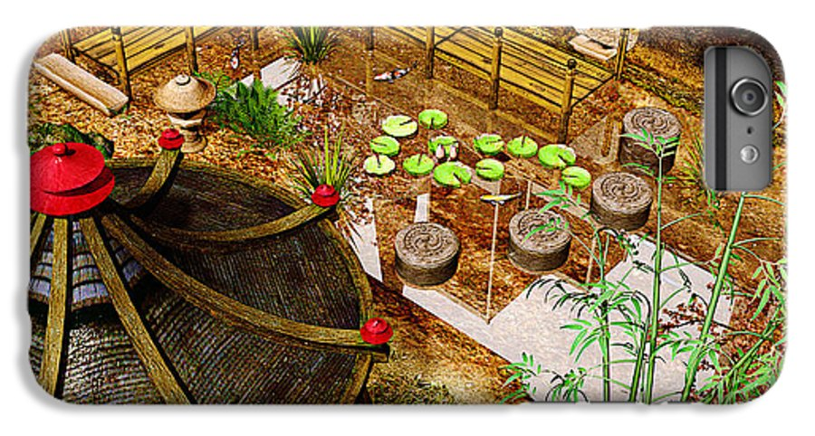 Garden IPhone 6 Plus Case featuring the photograph Japanese Garden by Peter J Sucy