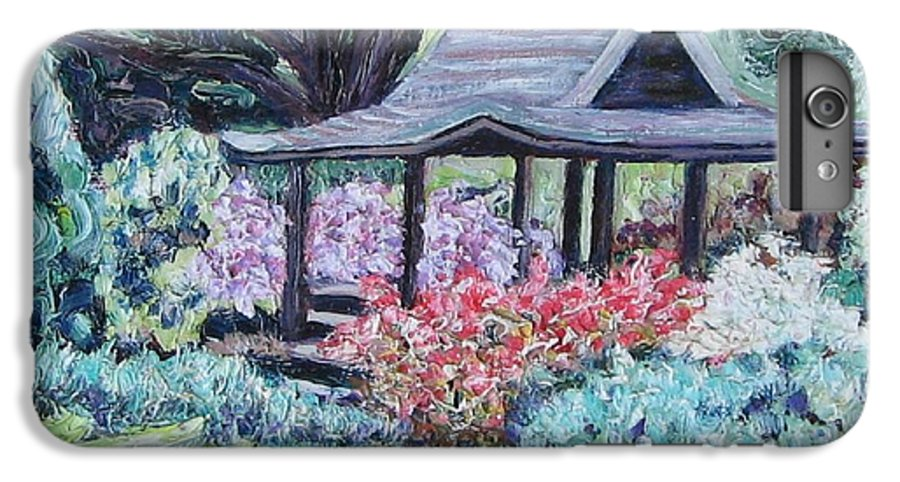 Garden IPhone 6 Plus Case featuring the painting Japanese Garden by Richard Nowak