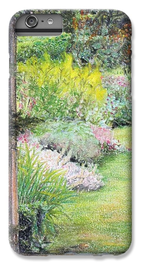 Landscape IPhone 6 Plus Case featuring the drawing Jardin by Muriel Dolemieux