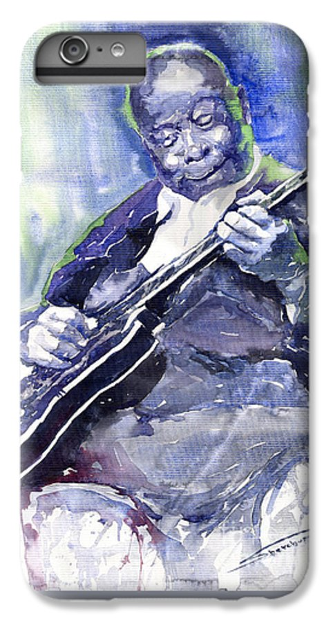 Jazz IPhone 6 Plus Case featuring the painting Jazz B B King 02 by Yuriy Shevchuk