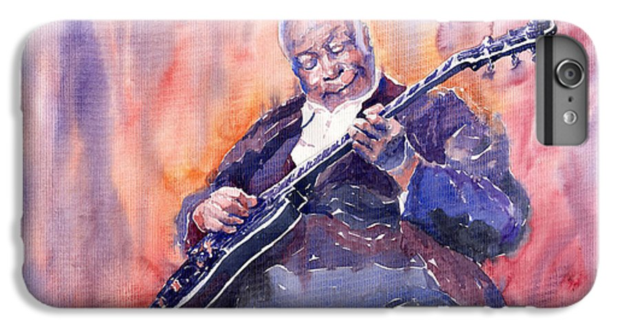 Jazz IPhone 6 Plus Case featuring the painting Jazz B.b. King 03 by Yuriy Shevchuk