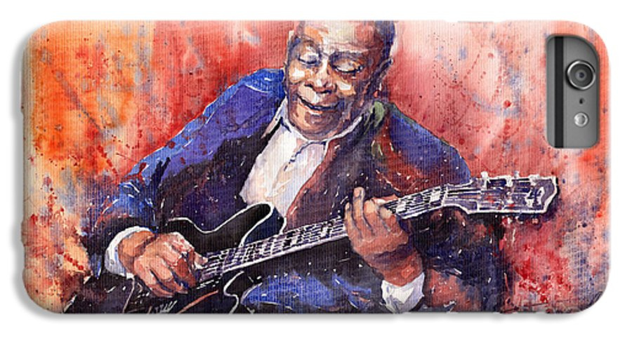 Jazz IPhone 6 Plus Case featuring the painting Jazz B B King 06 A by Yuriy Shevchuk