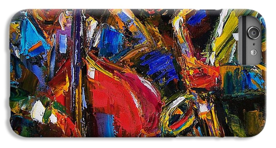 Jazz IPhone 6 Plus Case featuring the painting Jazz by Debra Hurd
