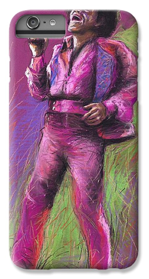 Jazz IPhone 6 Plus Case featuring the painting Jazz James Brown by Yuriy Shevchuk