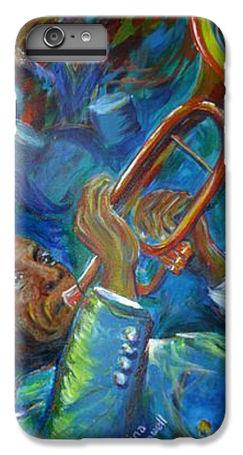 Jazz IPhone 6 Plus Case featuring the painting Jazz Man by Regina Walsh