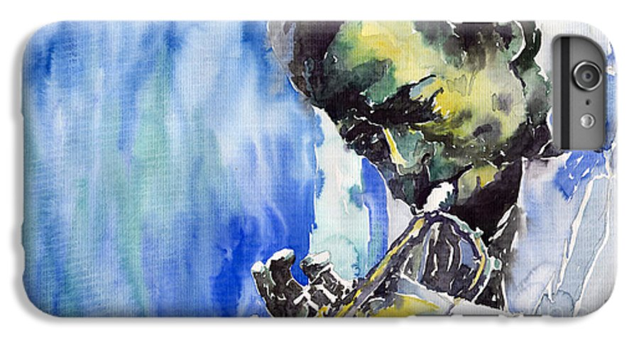 IPhone 6 Plus Case featuring the painting Jazz Miles Davis 5 by Yuriy Shevchuk