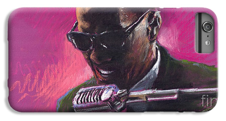 Jazz IPhone 6 Plus Case featuring the painting Jazz. Ray Charles.1. by Yuriy Shevchuk