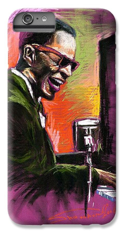 IPhone 6 Plus Case featuring the painting Jazz. Ray Charles.2. by Yuriy Shevchuk