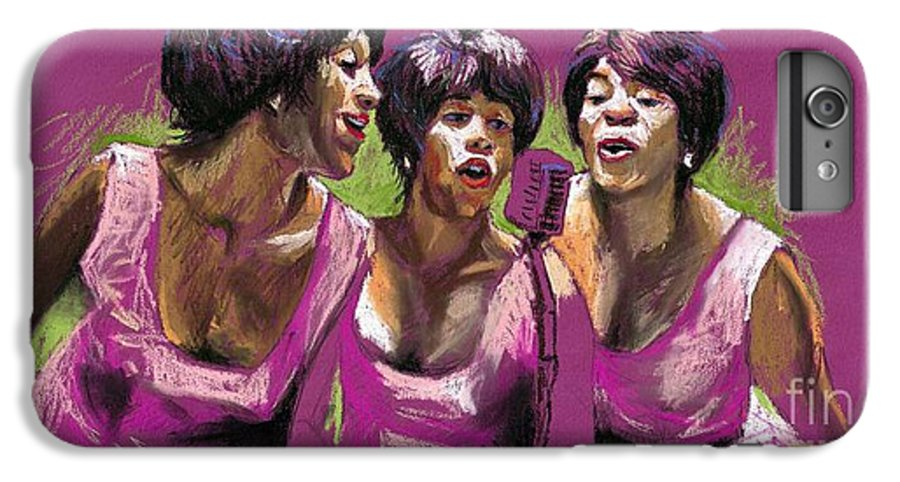 Jazz IPhone 6 Plus Case featuring the painting Jazz Trio by Yuriy Shevchuk