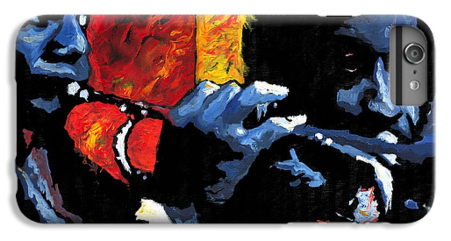 Jazz IPhone 6 Plus Case featuring the painting Jazz Trumpeters by Yuriy Shevchuk