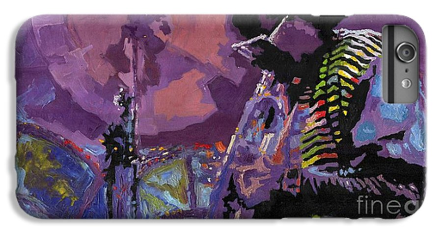 Jazz IPhone 6 Plus Case featuring the painting Jazz.miles Davis.4. by Yuriy Shevchuk
