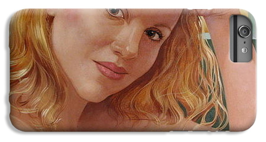 Portrait IPhone 6 Plus Case featuring the painting Jenn Cornelius by Jerrold Carton