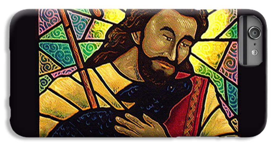 Jesus IPhone 6 Plus Case featuring the painting Jesus The Good Shepherd by Jim Harris