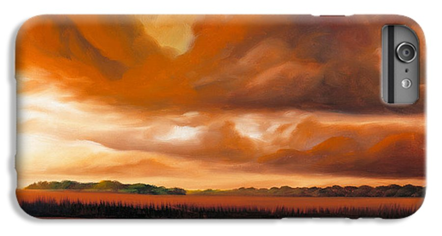 Clouds IPhone 6 Plus Case featuring the painting Jetties On The Shore by James Christopher Hill