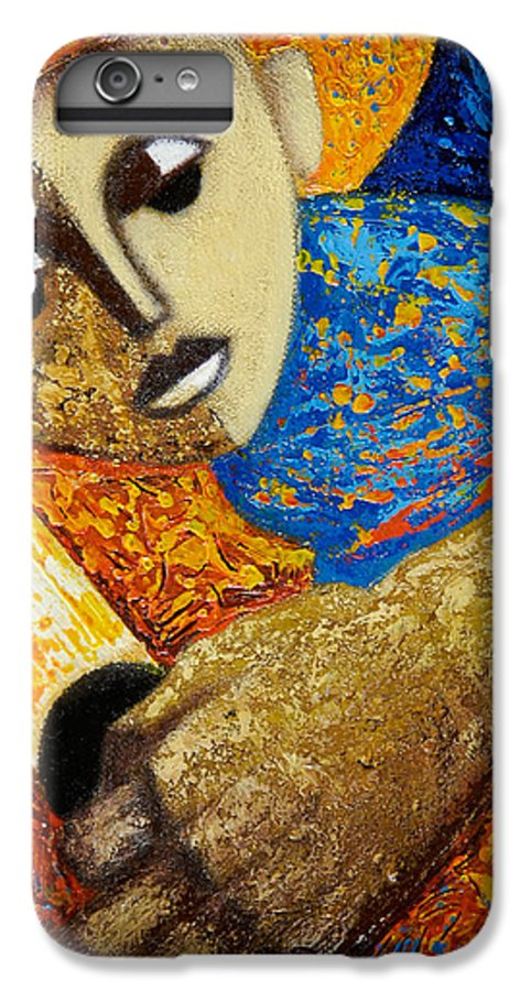 Color IPhone 6 Plus Case featuring the painting Jibaro Y Sol by Oscar Ortiz