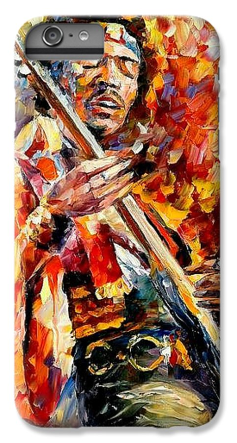 Music IPhone 6 Plus Case featuring the painting Jimi Hendrix by Leonid Afremov
