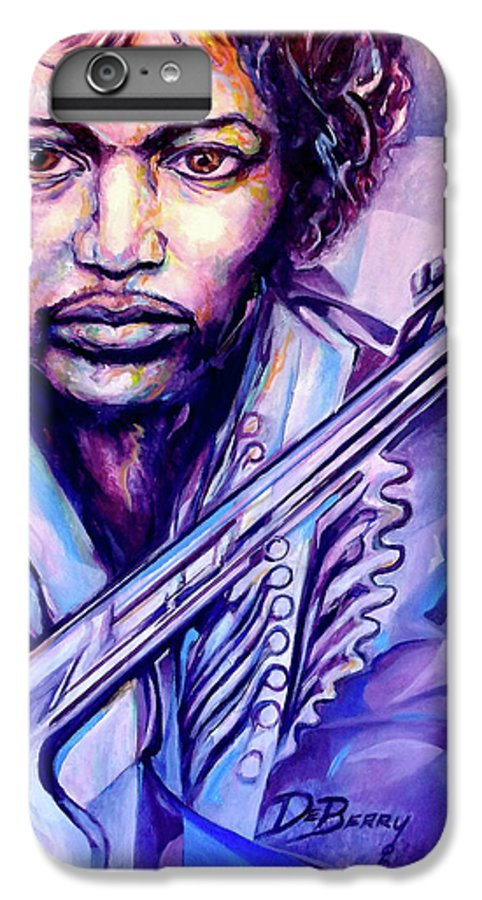 IPhone 6 Plus Case featuring the painting Jimi by Lloyd DeBerry