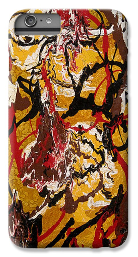 Abstract Art IPhone 6 Plus Case featuring the painting Joe Sweet by Jill English