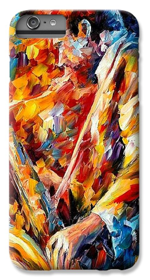 Music IPhone 6 Plus Case featuring the painting John Coltrane by Leonid Afremov