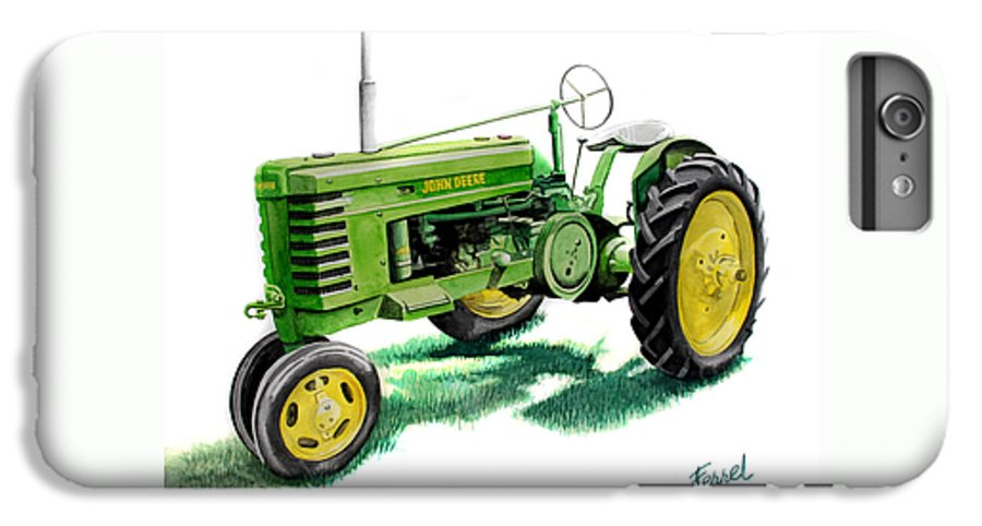 John Deere Tractor IPhone 6 Plus Case featuring the painting John Deere Tractor by Ferrel Cordle