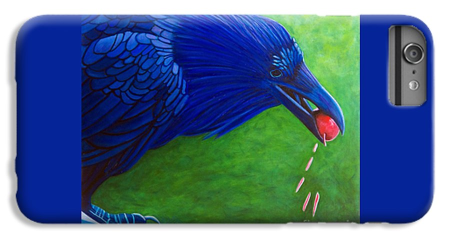 Raven IPhone 6 Plus Case featuring the painting Joie De Vivre by Brian Commerford