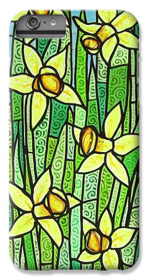 Jonquils IPhone 6 Plus Case featuring the painting Jonquil Glory by Jim Harris