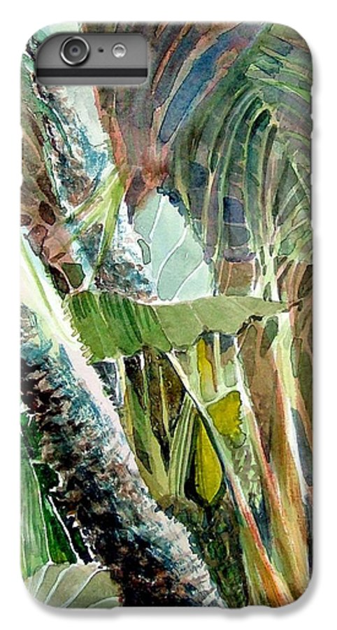 Palm Tree IPhone 6 Plus Case featuring the painting Jungle Light by Mindy Newman