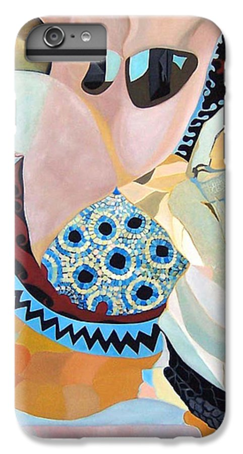 Figyrative IPhone 6 Plus Case featuring the painting Jurney by Antoaneta Melnikova- Hillman