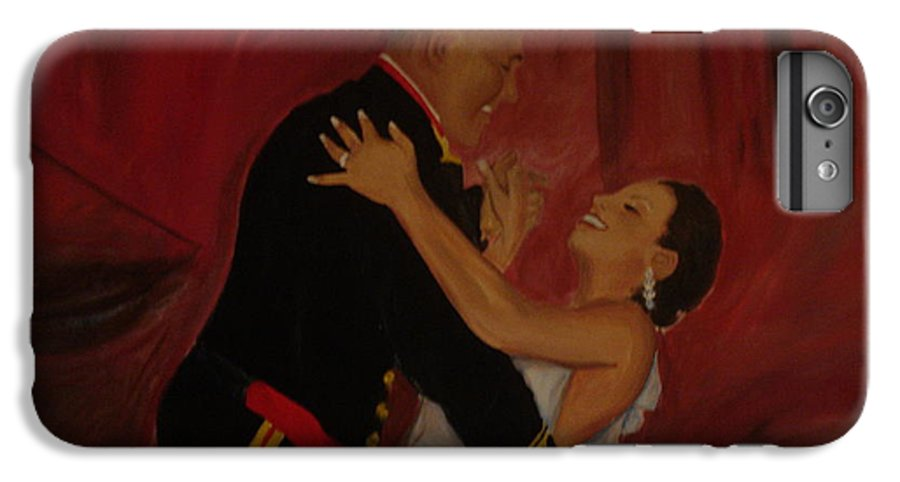 Marine IPhone 6 Plus Case featuring the painting Just Married by Regina Walsh