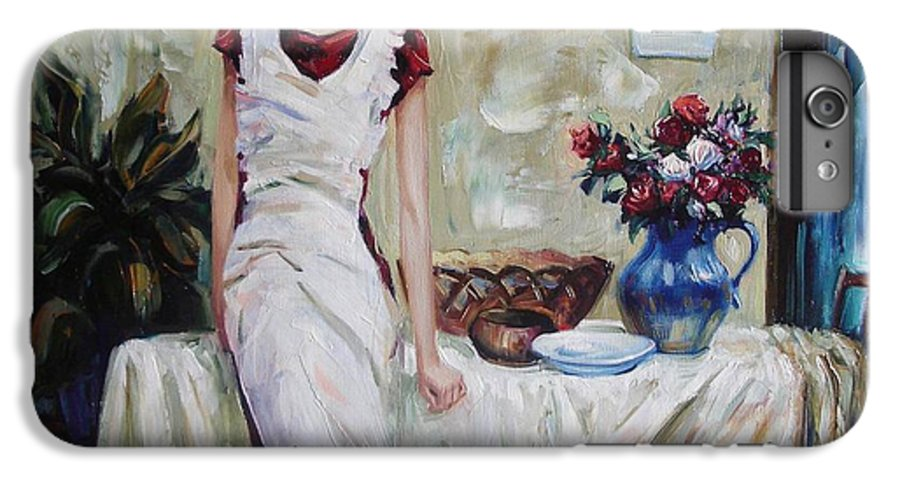 Figurative IPhone 6 Plus Case featuring the painting Just The Next Day by Sergey Ignatenko