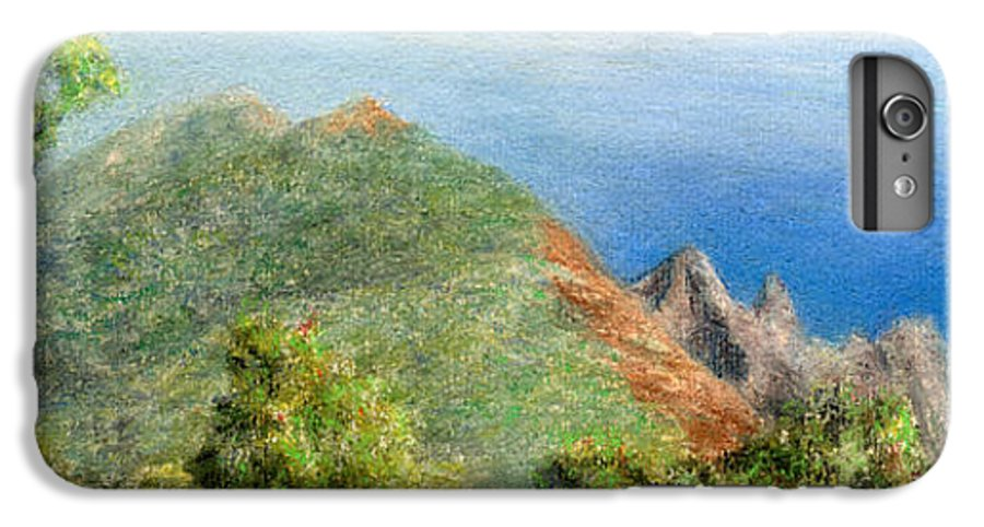 Rainbow Colors Pastel IPhone 6 Plus Case featuring the painting Kalalau View by Kenneth Grzesik
