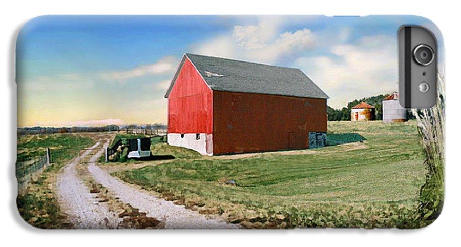 Barn IPhone 6 Plus Case featuring the photograph Kansas Landscape II by Steve Karol