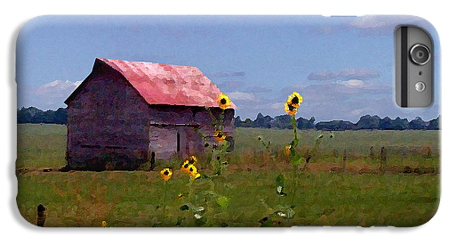 Landscape IPhone 6 Plus Case featuring the photograph Kansas Landscape by Steve Karol