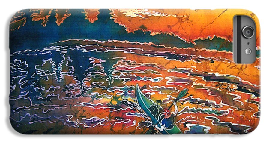 Kayak IPhone 6 Plus Case featuring the painting Kayak Serenity by Sue Duda