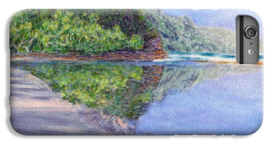 Rainbow Colors Pastel IPhone 6 Plus Case featuring the painting Ke' E Beach In May by Kenneth Grzesik