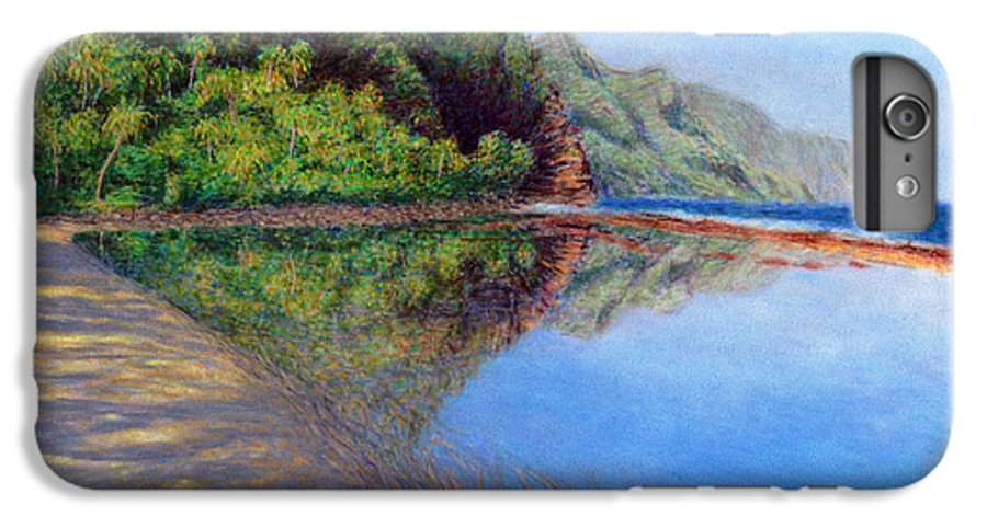 Rainbow Colors Pastel IPhone 6 Plus Case featuring the painting Ke'e Morning by Kenneth Grzesik