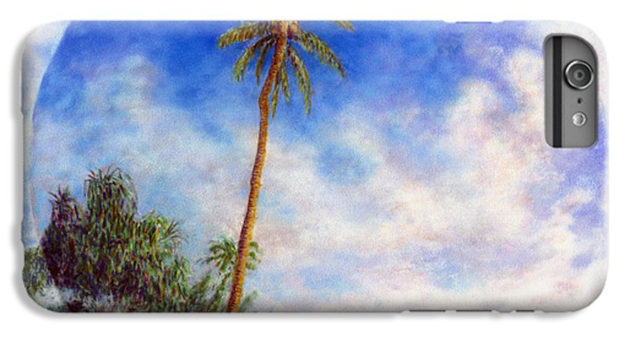 Rainbow Colors Pastel IPhone 6 Plus Case featuring the painting Ke'e Palm by Kenneth Grzesik