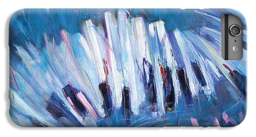 Piano IPhone 6 Plus Case featuring the painting Keys by Jude Lobe