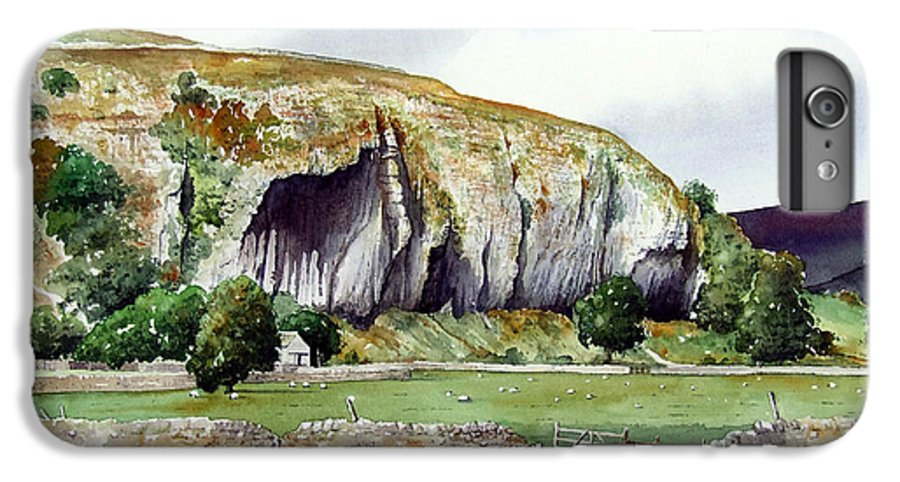 Landscape IPhone 6 Plus Case featuring the painting Kilnsey Crag by Paul Dene Marlor
