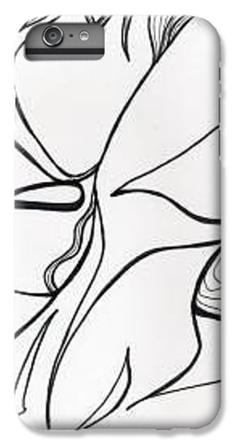 Kiss Vi IPhone 6 Plus Case featuring the drawing Kiss Vi by Loretta Nash