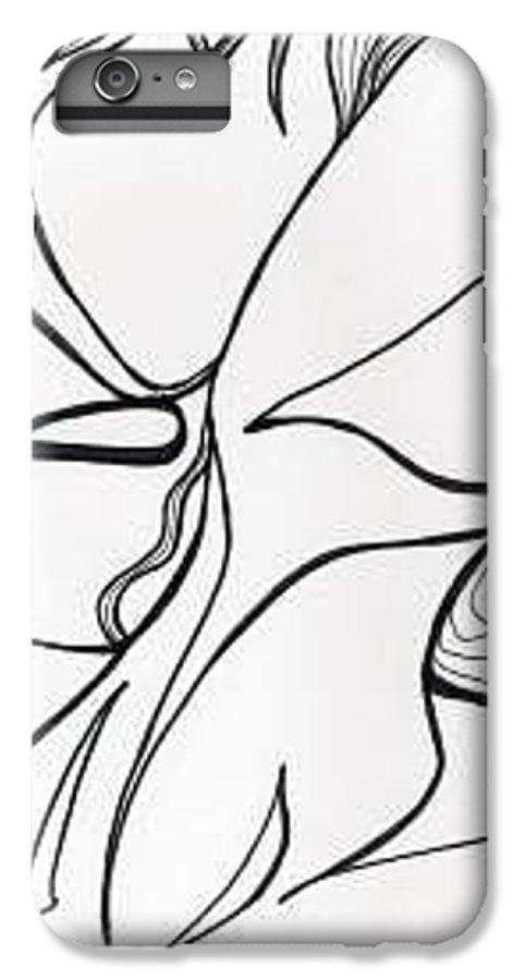 Kiss Vi IPhone 6 Plus Case featuring the drawing Kiss Vi by Loretta Nash
