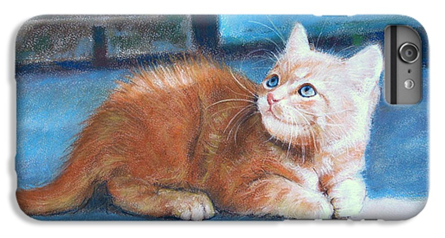 Cats IPhone 6 Plus Case featuring the painting Kitten by Iliyan Bozhanov