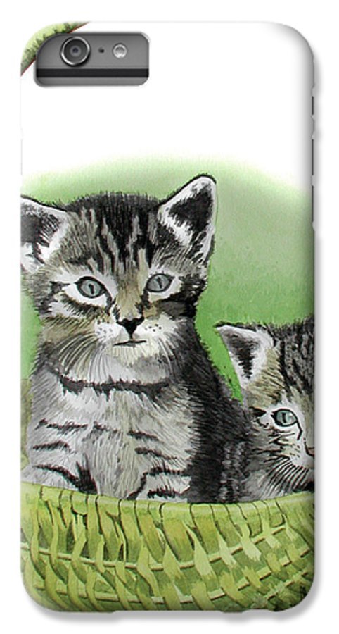 Cat IPhone 6 Plus Case featuring the painting Kitty Caddy by Ferrel Cordle