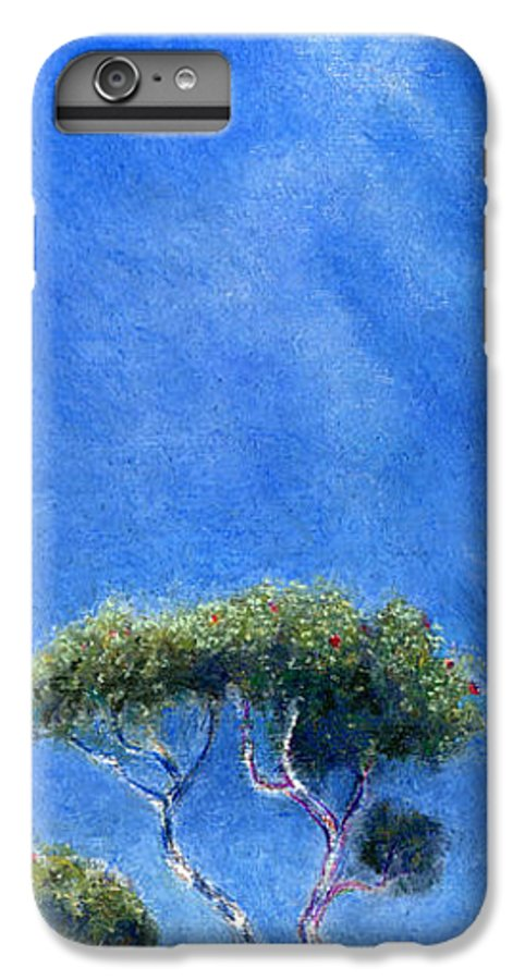 Rainbow Colors Pastel IPhone 6 Plus Case featuring the painting Kokee Trees by Kenneth Grzesik
