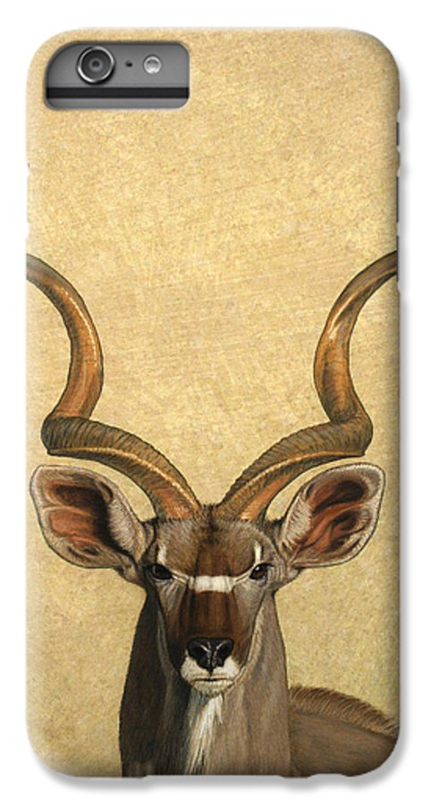 Kudu IPhone 6 Plus Case featuring the painting Kudu by James W Johnson