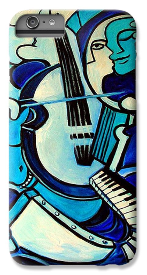 Abstract IPhone 6 Plus Case featuring the painting L Amour Ou Quoi by Valerie Vescovi